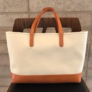 Mansur Gavriel **rare** canvas leather small tote